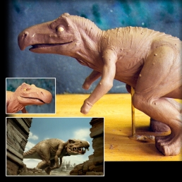 Sculpting of the dinosaur puppet