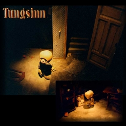 Shots where the main character from the stop-motion movie Tungsinn are sitting on the floor