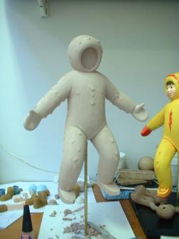 Eskimonika stop-motion puppet ready for paint
