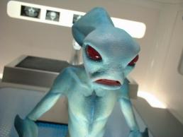 Alien puppet close up