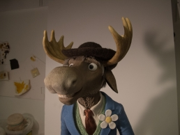 Finished moose puppet