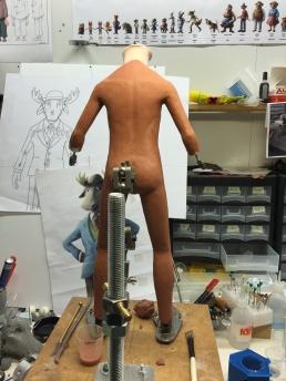 Work in progress on sculpting the moose body