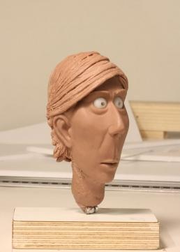 Work in progress on the head sculpt