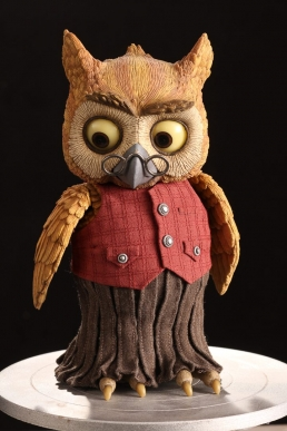 The finished Owl puppet