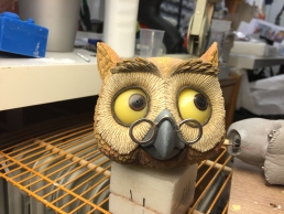Owl stop-motion puppet head