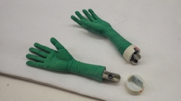 Stop-motion silicone hands for the widow